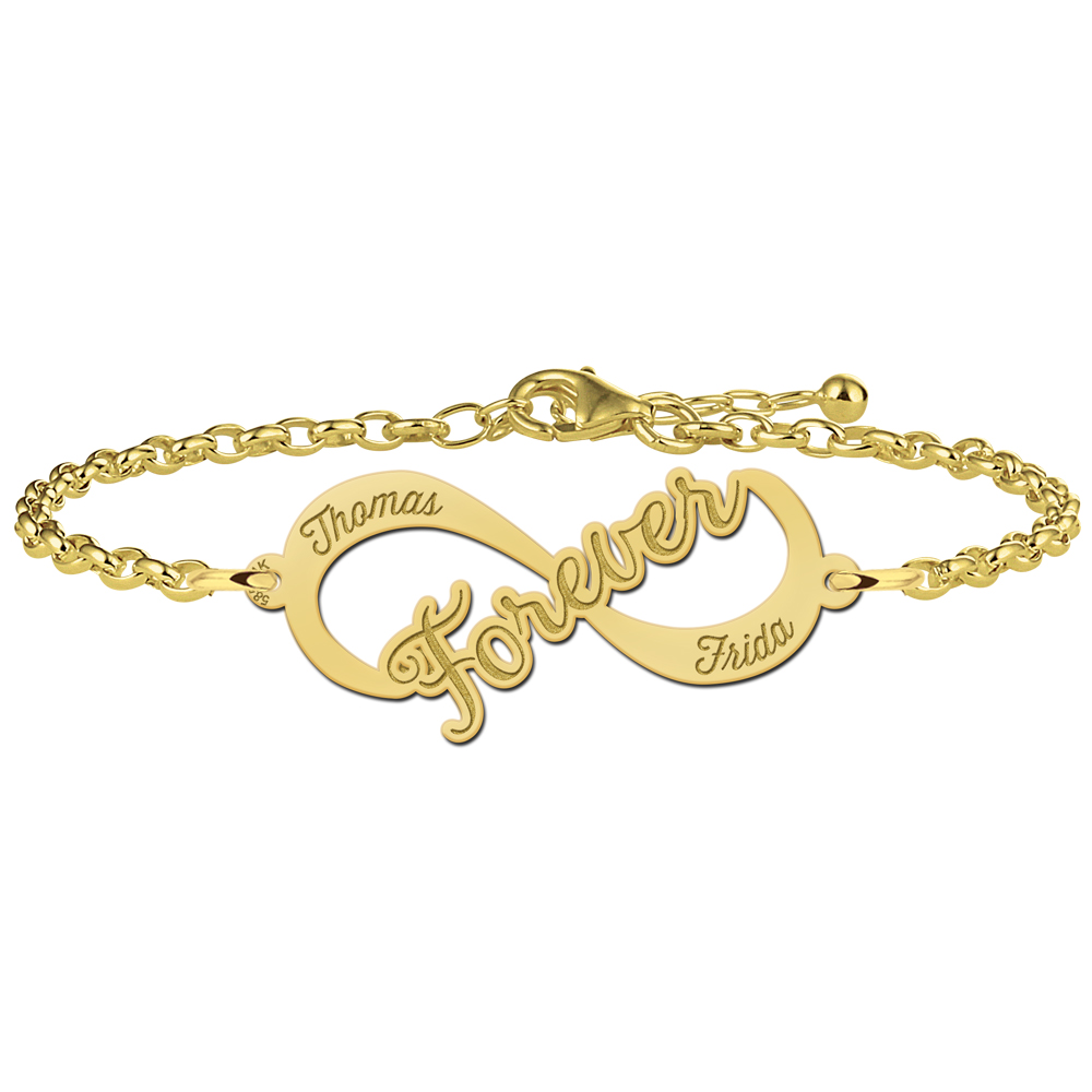"Goldenes Infinity Armband ""Forever"""