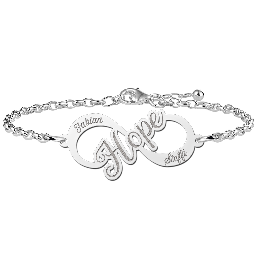 Hope Infinity Armband aus Silber